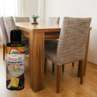 AFC Orange Oil Furniture Polish on Dining Table