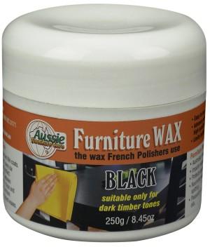 Aussie Furniture Care Furniture Wax 250gr Black