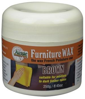 Aussie Furniture Care Furniture Wax 250gr Brown Colour