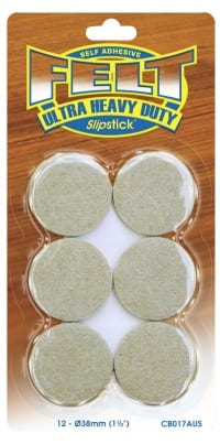 Heavy Duty Felt Pads 38mm Round Furniture Care Products