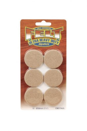 Slipstick Heavy Duty Felt Floor Protectors 38mm Round