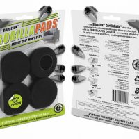 Front & Rear View of Slipstick Gorilla Pads Furniture Grippers & Floor Protectors 50mm Round