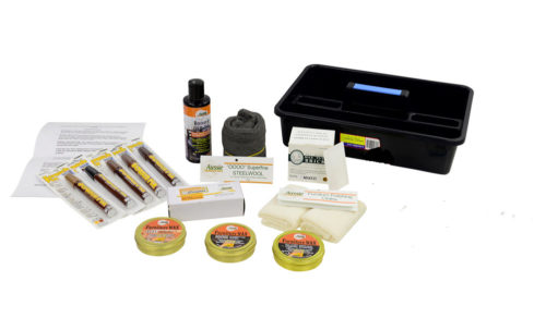 Complete Timber Furniture Repair Kit Option 1 Contents in plastic box