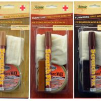 Furniture First Aid Kits 3 colours displayed, light brown, medium brown, dark brown