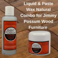 Liquid & Paste Wax Natural Combo for Jimmy Possum Wood Furniture