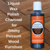 Liquid Wax Furniture Polish for Jimmy Possum Furniture 250ml Charcoal