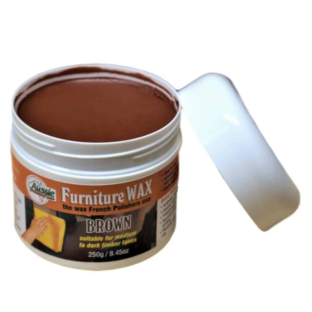 Furniture Wax Beeswax Paste Brown 250gr