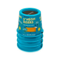 Slipstick 3inch_ 75mm Neon Blue Bed Risers _ Furniture Risers