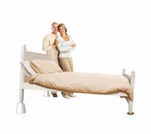 Slipstick Bed Risers For Raising Beds with Happy People