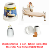 Slipstick CB656 - 5 Inch _ 125mm Incline Bed Risers for Acid Reflux _ GERD Relief