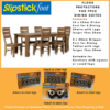 Floor Protector Pack for a 7 Piece Dining Setting. Furniture Sliders for the dining chairs and a set of Furniture Grippers for the dining table legs. This pack provides a long term solution to protecting your floors from furniture damage.