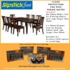 Floor Protector Pack For a 9 Piece Dining Table Setting with 8 Chairs and 1 dining Table