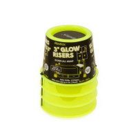 Slipstick Glow in the Dark 3 inch 75mm Bed Risers/Furniture Risers